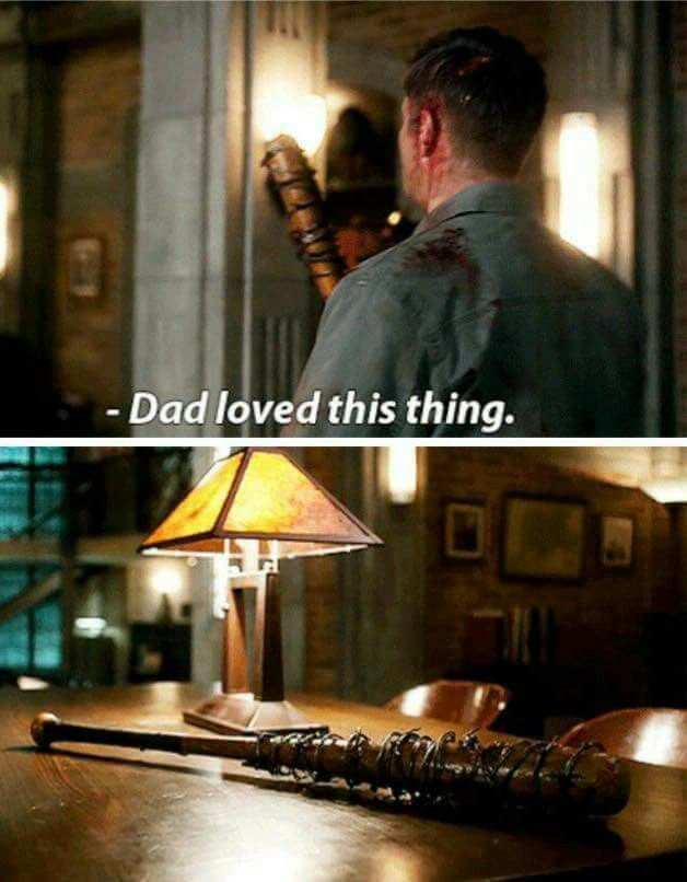 My fangirl life now it's perfect. Lucille in Supernatural =