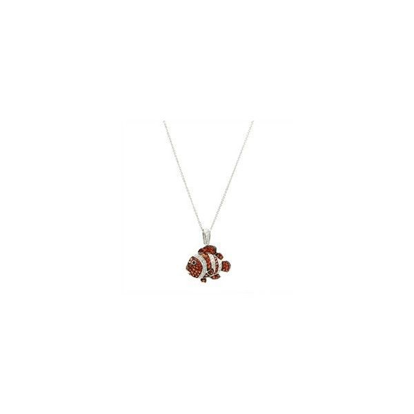 Marlin's Clown Fish Necklace (18″ Chain) | Famous Jewelry Designs via Polyvore