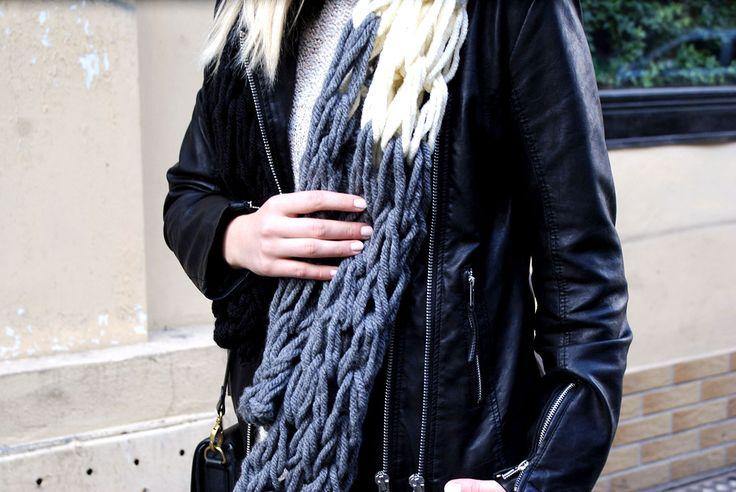 Arm knitting scarf   Hunting For Style - blog o szyciu, modzie i DIY