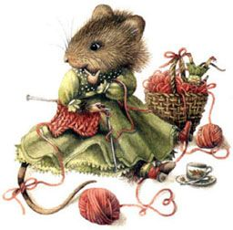 Marjolein Bastin...I adore this little mouse...she can come knit with me any day !