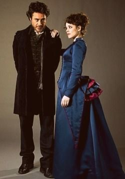 Sherlock Holmes and Irene Adler (Robert Downey Jr., Rachel McAdams)