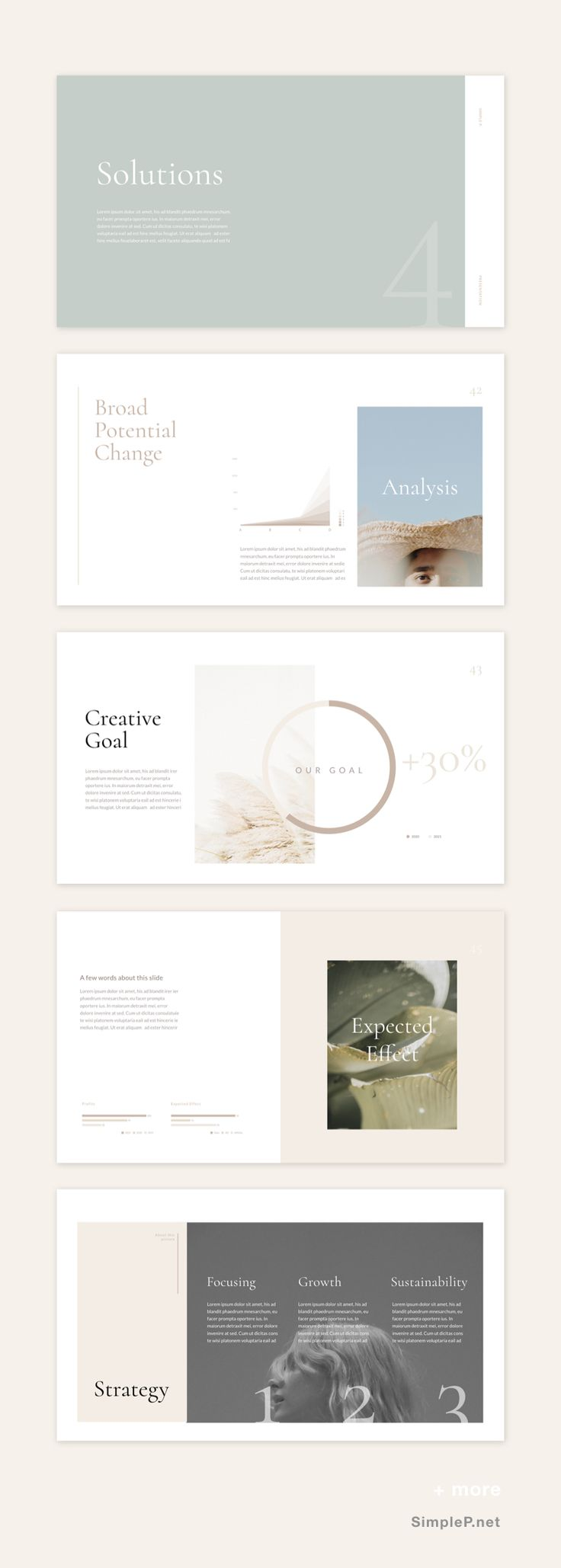 Gorgeous Neutral Keynote Template✨ This is the p…