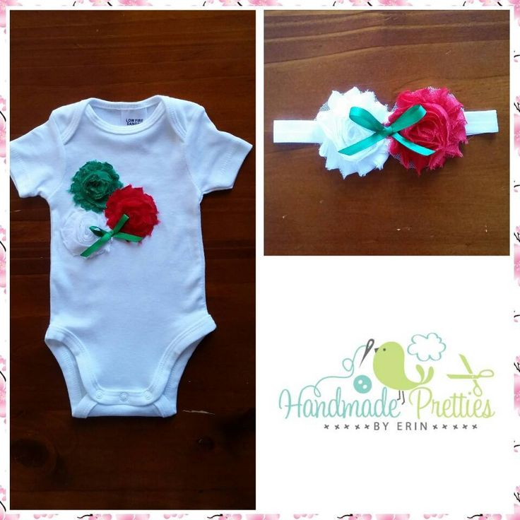 Handmade by Handmade Pretties By Erin  Size 000 embellished bodysuit & matching headband