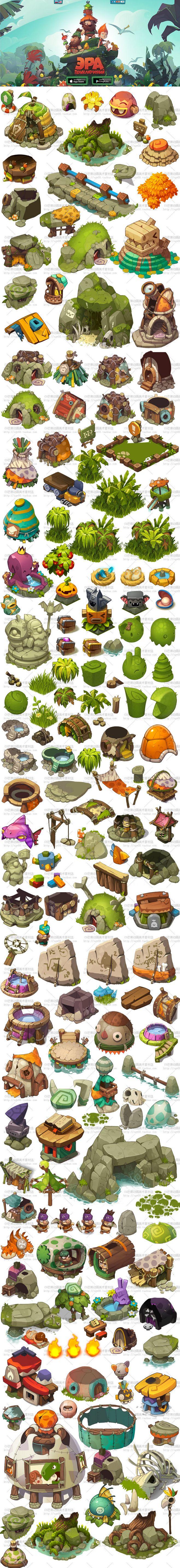 游戏原画资源 场景素材 2D资源 可爱卡...