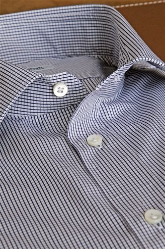 Shirt Paintings, crossing lines Intense Blue on White, Custom Shirt, Shirt for Men - $109