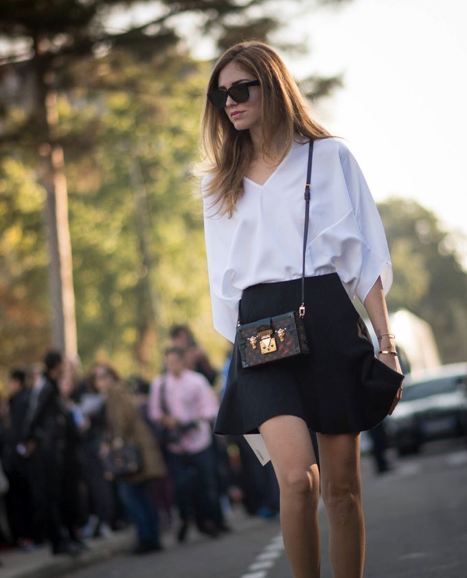 Chiara keeping it simple...nice. Paris. #TheBlondeSalad