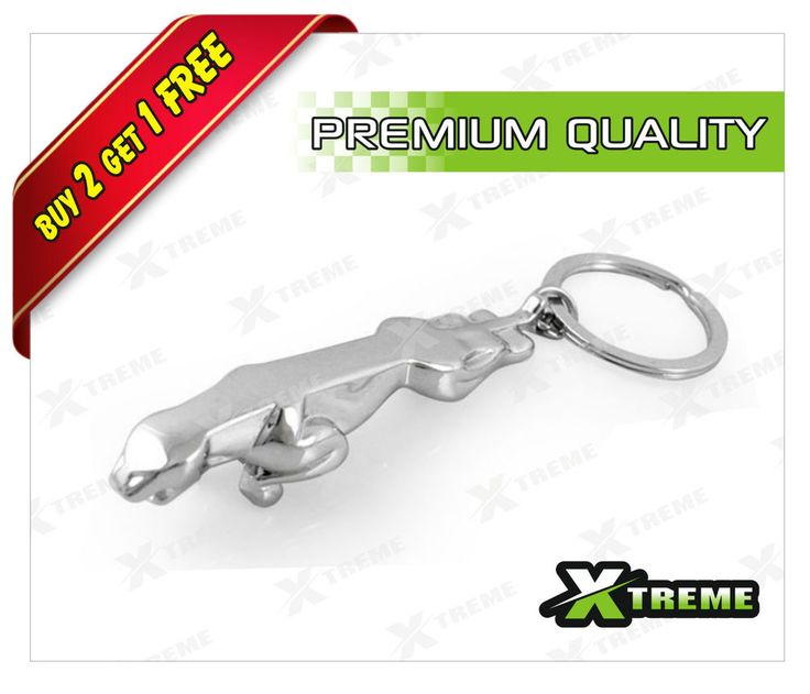 XTREME-in 3D Jaguar Keychain Stainless Steel Keyring Premium Quality