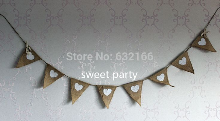 linen bunting triangle flags pennant party garland