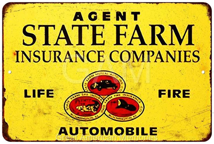 State Farm Insurance Companies Vintage Reproduction 8x12 Metal Sign 8121537
