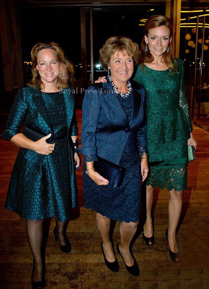 9/16/14.  Prinses Margriet, Prinses Margarita en Prinses Aimee bij modeshow Addy van den Krommenacker.