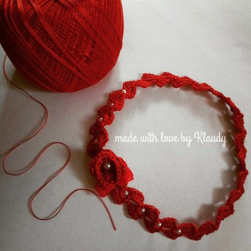 ❤ #fascetta #baby red  passion. Un dolce accessorio per le vostre piccole principessine  realizzato a mano.