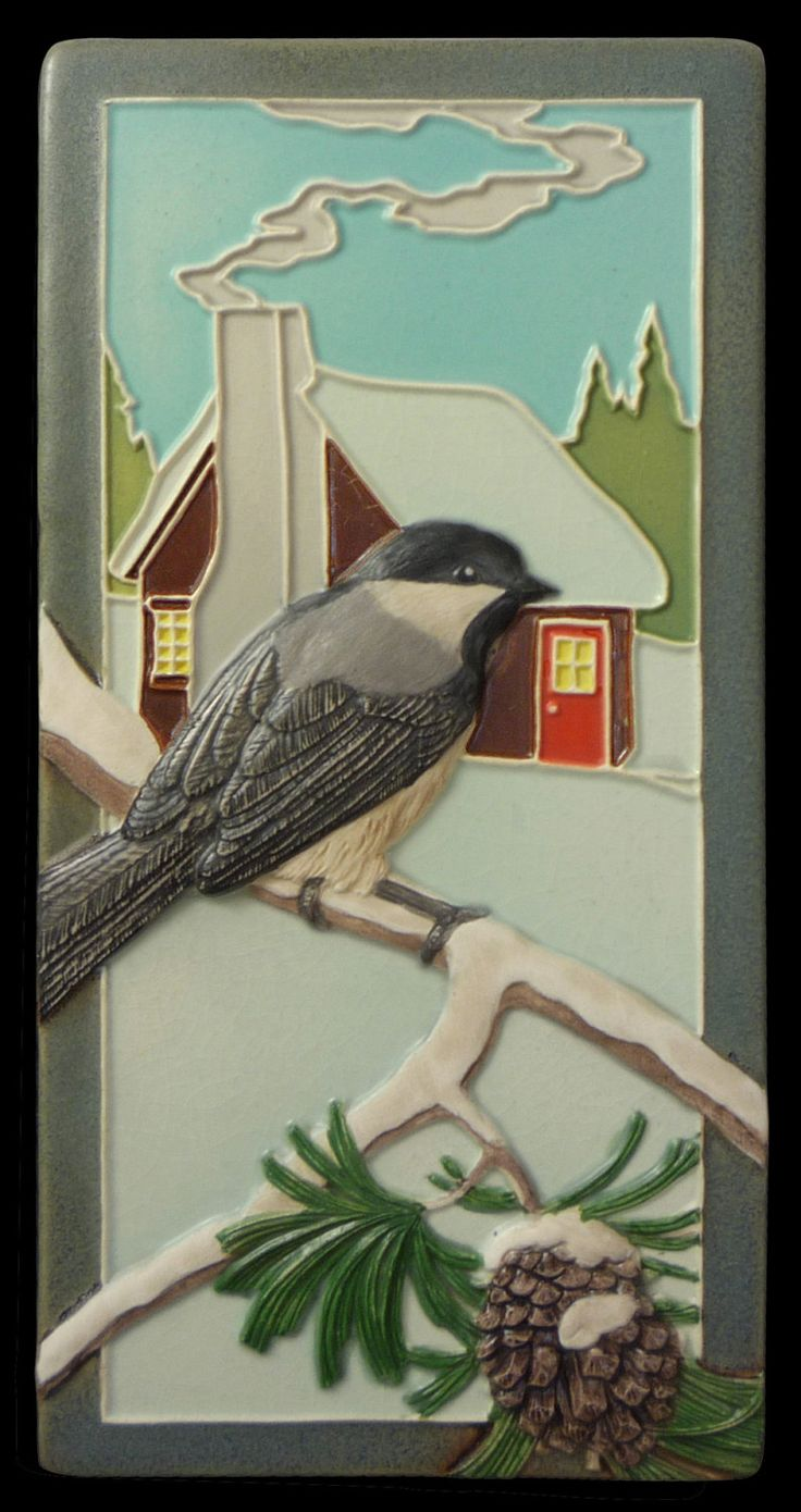 337 best natural etsy images on pinterest tiles ceramic pottery art tile ceramic tilechickadee wall decor sculpture animal art amipublicfo Gallery
