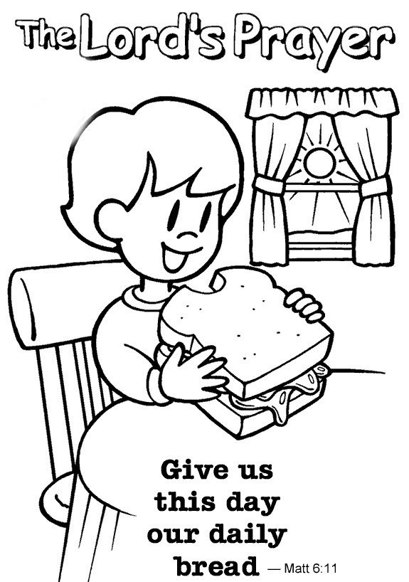 Lords Prayer Coloring Pages For Kids
