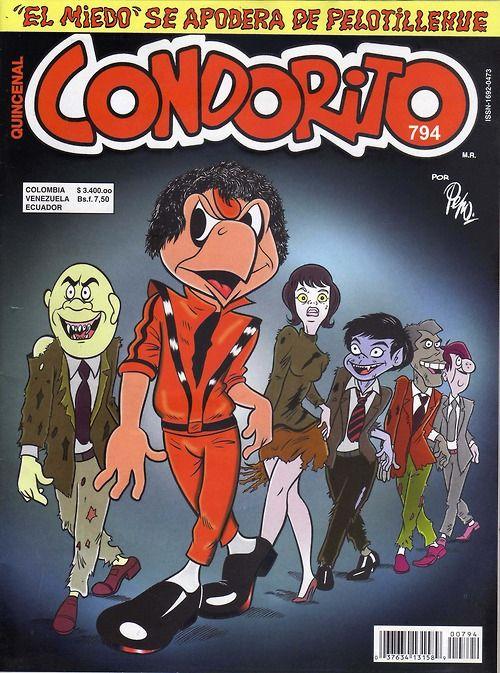 """""""Condorito"""" comic book cover tribute to Michael Jackson's """"Thriller""""."""