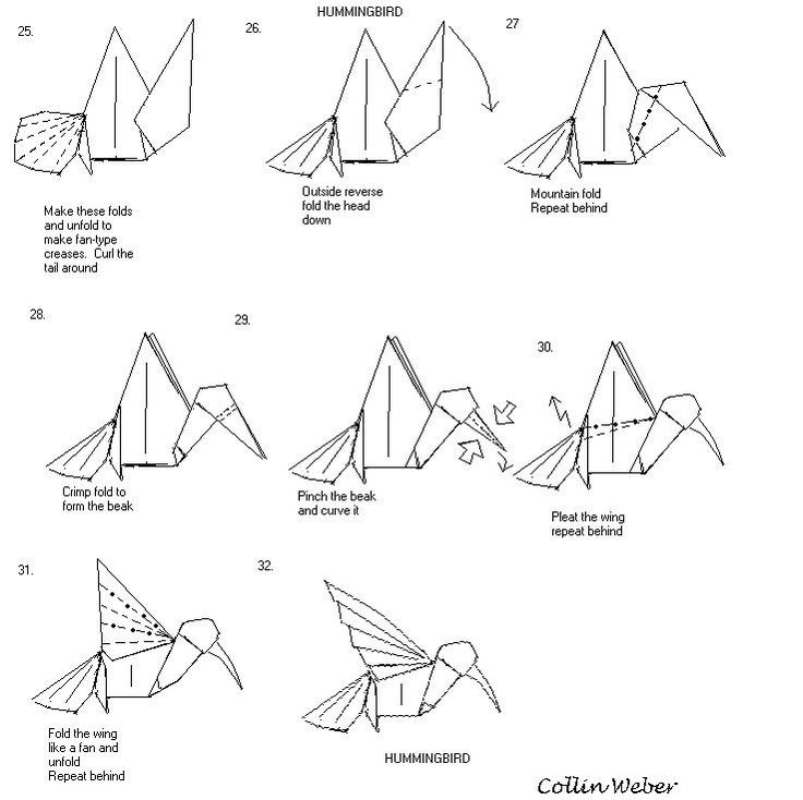 origami animal diagrams