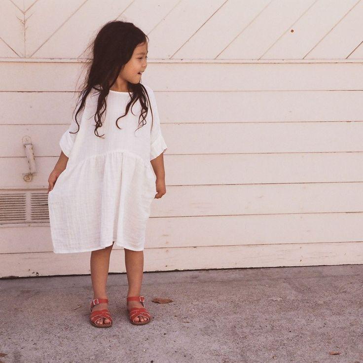 Cotton Una Dress -White - 2-8y