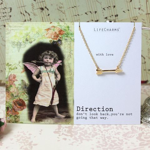 Direction arrow necklace