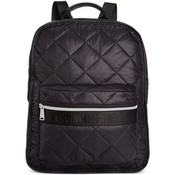 calvin klein cire nylon quilted backpack 126 liked on. Black Bedroom Furniture Sets. Home Design Ideas