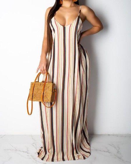 V Neck Leaf Print Mini Dress In 2020 Striped Maxi Dresses