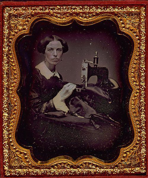 Daguerreotype, photography, occupational sewing machine