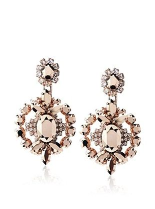 60% OFF LK Designs Rose-Tone Stone Oval Earrings