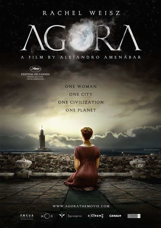 AGORA: A historical drama set in Roman Egypt, concerning a slave who turns to the rising tide of Christianity in the hopes of pursuing freedom while also falling in love with his master, the famous female philosophy and mathematics professor Hypatia of Alexandria. Rachel Weisz plays the starring role. If history interests you, I suggest you read about the historical accuracy of the movie on Wikipedia. #cinema #movie