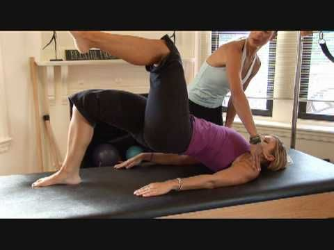 Pilates workout for toning butt and thighs.