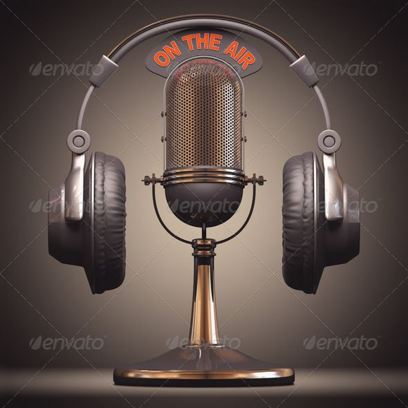 On The Air ... audio, broadcast, classic, disc jockey, earbud, earphone, equipment, headphone, headset, instrument, jazz, karaoke, live, mic, microphone, music, musical, old, on the air, pop, radio, record, retro, rock, sing, singer, sound, speak, speech, stage, studio, vintage