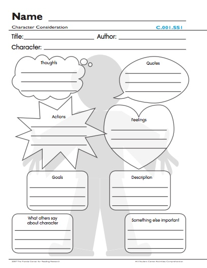 Narrative text graphic organizers from the Florida Center