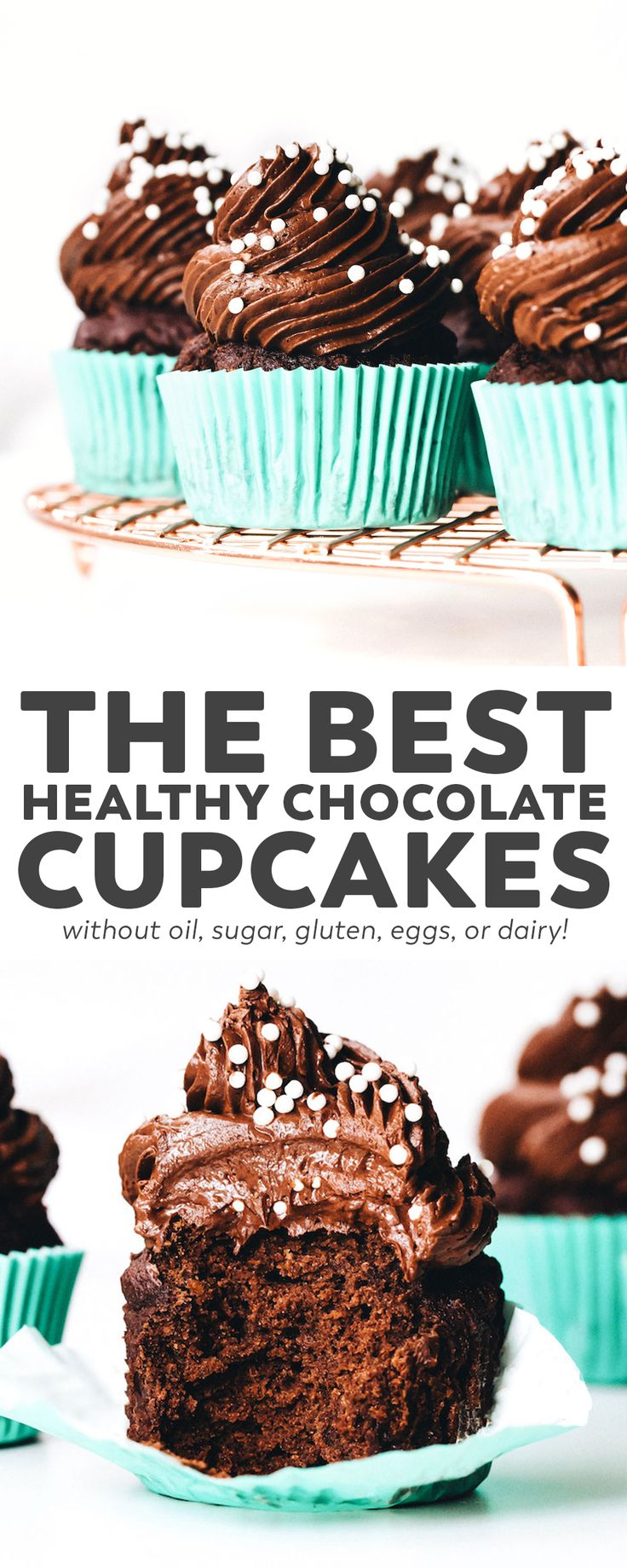 The BEST Healthy Chocolate Cupcakes