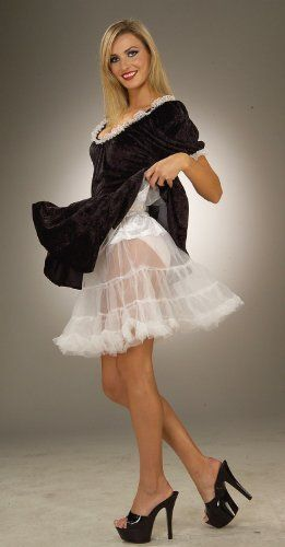 Petticoat - Adult Accessory - White - Adding a petticoat to your costume will add the wow factor you are looking for. Petticoat White includes one white crinoline skirt that is 19 inches long, and fits most plus size women. Please note costume is not included. This crinoline is Available in one size fits most Adults. Read more at http://collection.li/posts/Petticoat-Adult-Accessory-White-B003V2MIKO