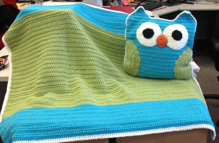 Owl pillow and blankie