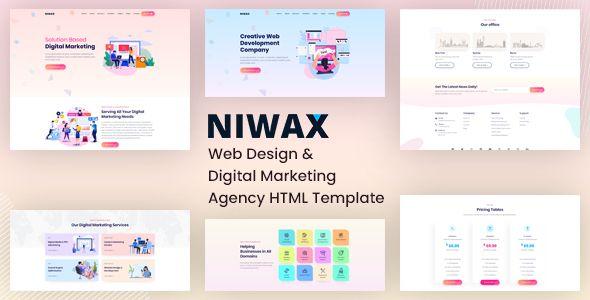 Niwax Creative Agency Multi Purpose Html Template Stylelib In 2020 Web Development Agency Web Design Web Design Company