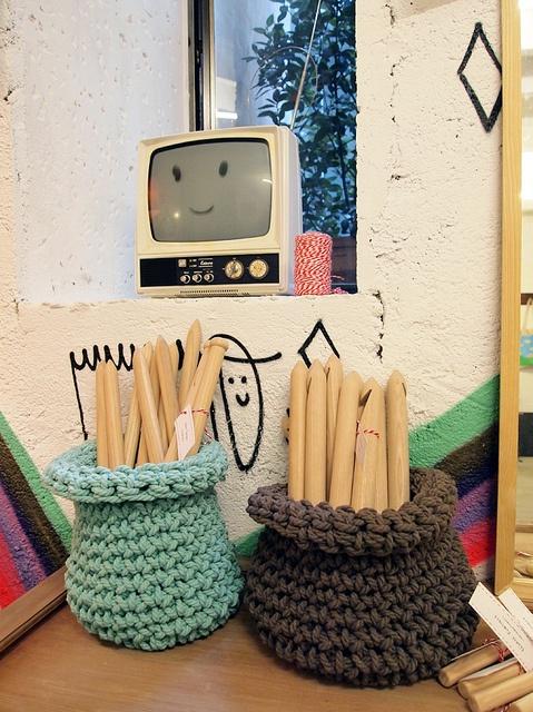 Crocheted baskets #trapillo #fettuccia