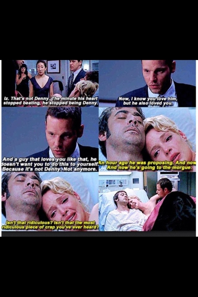 One of many Grey's Anatomy scenes I can't watch without crying