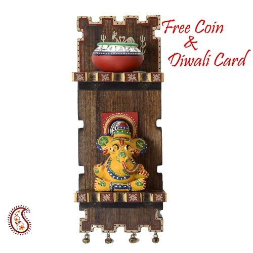Elegant Ganapai Wall décor for Diwali - Online Shopping for Diwali Pooja Accessories by Apno Rajasthan