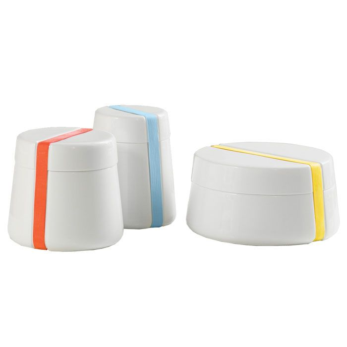 Porcelain Storage Containers With Rubber Band Closures. Starting At $50. |  Form Follows Function | Pinterest | Storage Containers, Porcelain And  Storage