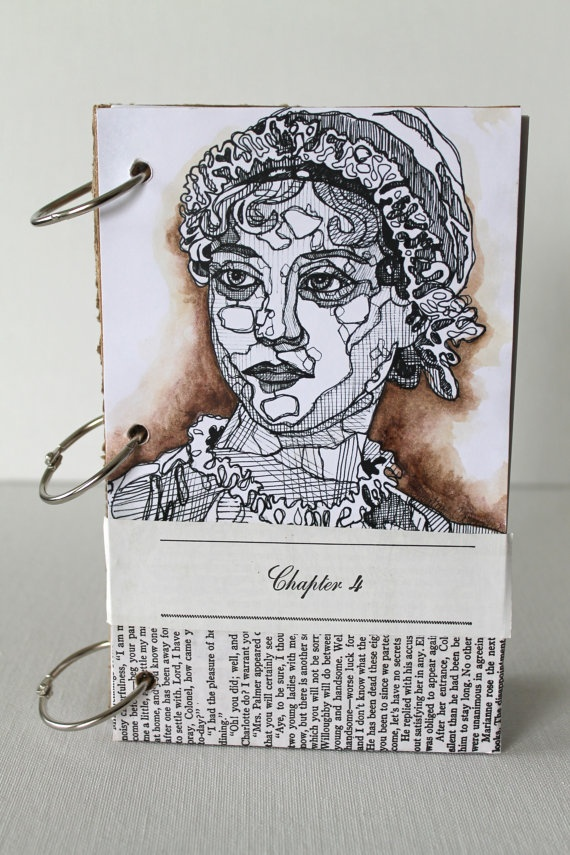 Jane Austen Journal Blank Book Binder Rings by creativecarmelina, $25.00Journals Blank, Blank Book, Binder Rings, Shops Ideas, Jane Austen, Austen Journals, Book Binder