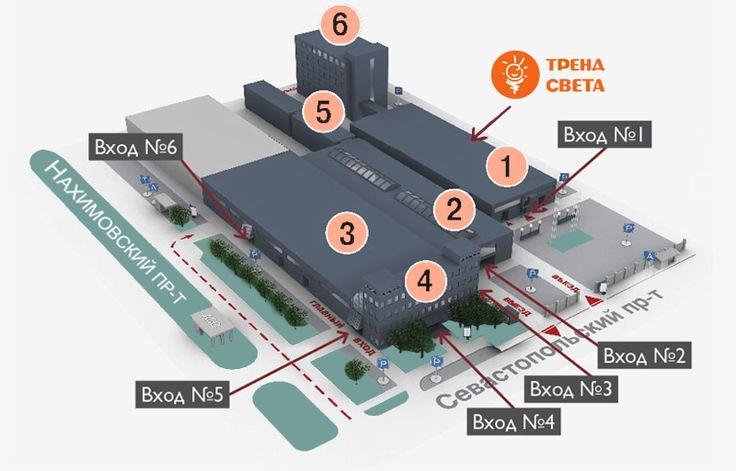 Расположение торгового центра