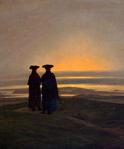 """ Caspar David Friedrich - Sunset (Brothers) """