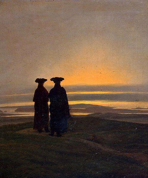 Caspar David Friedrich (1774-1840). Sunset.