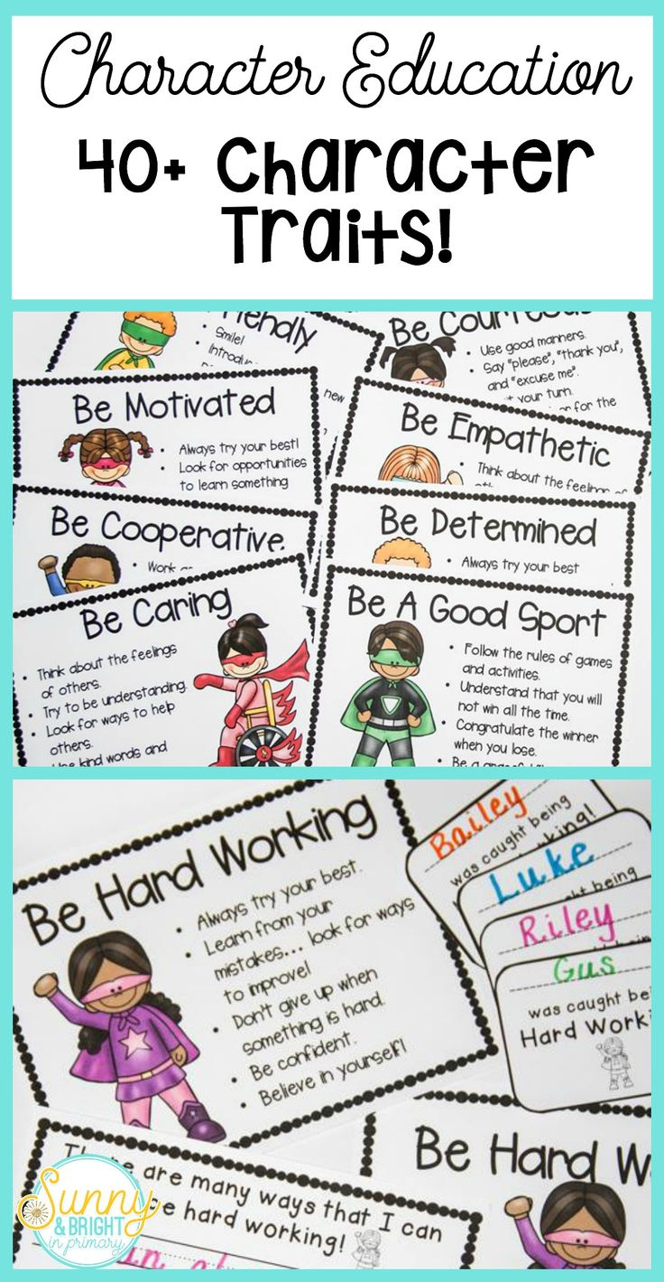 Cute superhero themed character education posters.  Character traits for each week of the year!  Over 40 different character traits included! ($)
