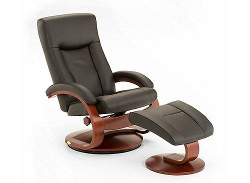 This motion chair and matching ottoman is Norwegian styling at its best -- and itu0027s new! The Hamar Leather Recliner includes swivel adjustable reclining ...  sc 1 st  Pinterest & 11 best Scandinavian Style Recliners images on Pinterest ... islam-shia.org