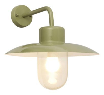 Mara outdoor wall light in sage green 5052931171002