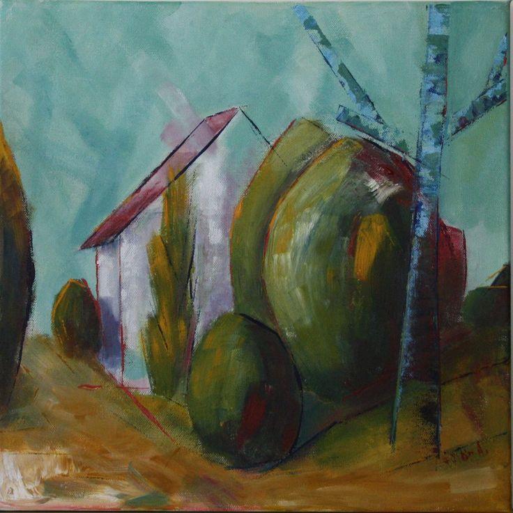 Summer in Kétvölgy canvas 40x40cm