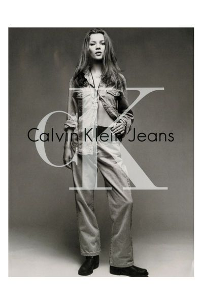Kate Moss for Calvin Klein Jeans, 1993(?).