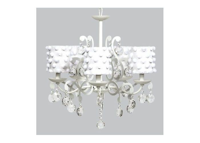 Chandelier With White Pom Shades