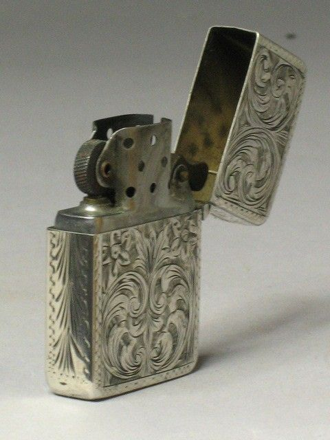 art nouveau engraving | WONDERFUL ART NOUVEAU ENGRAVED ZIPPO LIGHTER