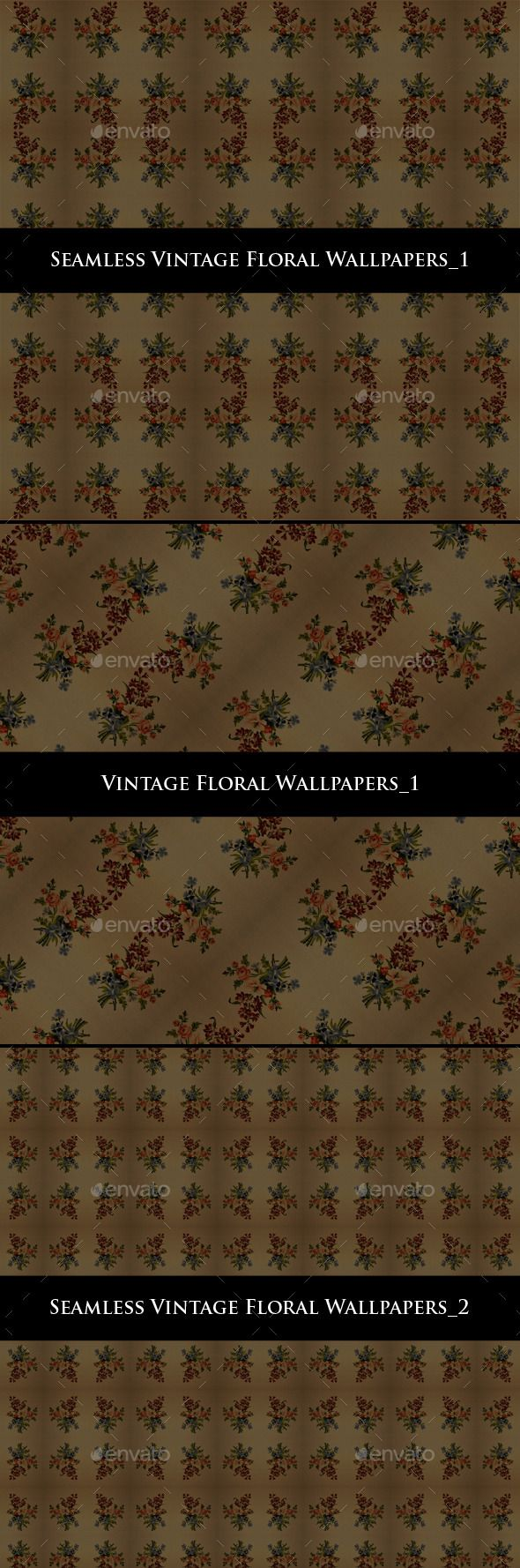 Vintage Floral Wallpapers by djjeep Vintage Wallpaper Backgrounds -鈥?20Seamless Vintage Floral Wallpapers_1