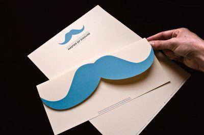 mustache invitation. I want to make the envelope w/ a mustache